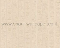 טפטים לחדר שינה, טפט לקיר צורות עתיקות גוון קרם