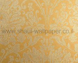 טפטים לחדר שינה, טפט לקיר מדליונים בצורת פרחים צבע קרם