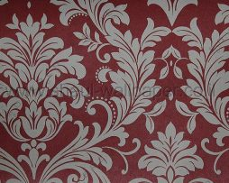 טפטים לחדר שינה, טפט לקיר מדליונים בצורת פרחים בורדו אדום