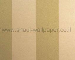 טפטים לחדר שינה, טפט לקיר פסים נוצצים צבע קרם