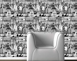 טפטים לחדר שינה, טפט לקיר תמונות הוליווד שחור לבן