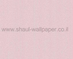 טפטים לחדר שינה, טפט לקיר פסים נוצצים מחוספסים ורוד לבן