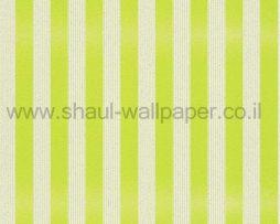 טפטים לחדר שינה, טפט לקיר פסים נוצצים גוון ירוק