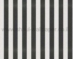 טפטים לחדר שינה, טפט לקיר פסים נוצצים שחור לבן אפור