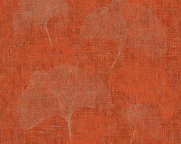 טפטים לחדר שינה, טפט לקיר טפט צורת מניפה אדום וכסף