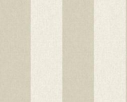 טפטים לחדר שינה, טפט לקיר טפט פסים גדולים לבן שמנת