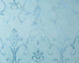טפטים לחדר שינה, טפט לקיר טפט צורות מדליונים צבע תכלת