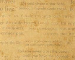 טפטים לחדר שינה, טפט לקיר משפטים באנגלית צבע כתום