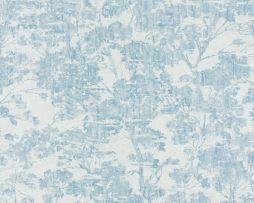טפטים לחדר שינה, טפט לקיר טפט עצים צבע כחול ולבן
