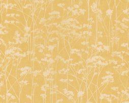 טפטים לחדר שינה, טפט לקיר טפט עצים ברקע צהוב ולבן