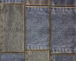 טפטים לחדר שינה, טפט לקיר ג'ינס כהה צבע כחול