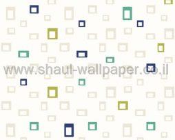 טפטים לחדר שינה, טפט לקיר מרובעים קטנים צבעוני