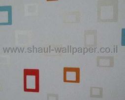טפטים לחדר שינה, טפט לקיר מרובעים קטנים צבעוני 2