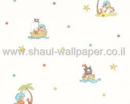 טפטים לחדר שינה, טפט לקיר שודדים מצויירים צבעוני