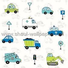 טפטים לחדר שינה, טפט לקיר רמזורים וכלי רכב ירוק וכחול