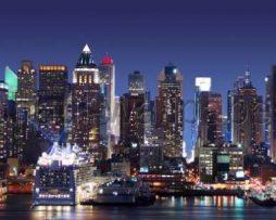 טפטים לחדר שינה, טפט לקיר ניו יורק בלילה