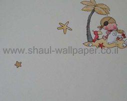 טפטים לחדר שינה, טפט לקיר שודדים מצויירים צבעוני 2