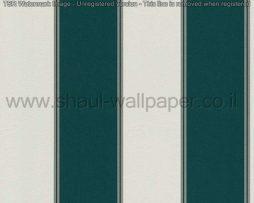 טפטים לסלון חדרי שינה ולחלל הבית טפט עם פסים בצבע ירוק ולבן
