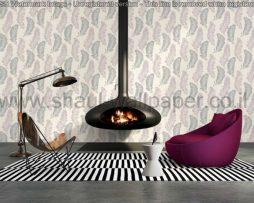 טפטים לסלון פינות אוכל ולחלל הבית טפט נוצות גדולות לבן אפור וכסף