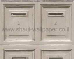טפטים לחדרי עבודה ומשרדים , טפט אפור בדוגמא של תיבות דואר