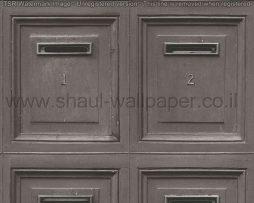 טפטים לחדרי עבודה ומשרדים , טפט אפור כהה בדוגמא של תיבות דואר