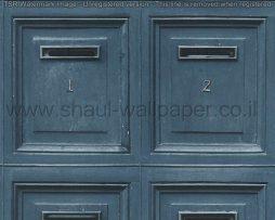 טפטים לחדרי עבודה ומשרדים , טפט כחול בדוגמא של תיבות דואר