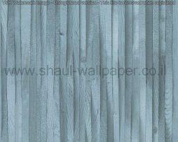 טפטים לחדרי עבודה משרדים וסלון, טפט רצועות עץ בכחול