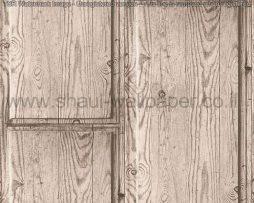 טפטים לחדרי עבודה משרדים וסלון, טפט דמוי עץ רחב בצבע חום בהיר