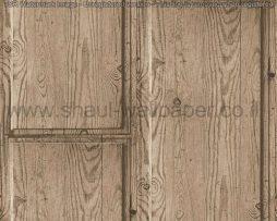 טפטים לחדרי עבודה משרדים וסלון, טפט דמוי עץ רחב בצבע חום