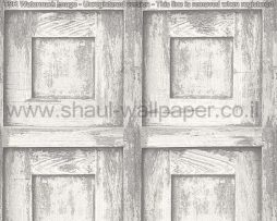 טפטים לחדרי עבודה משרדים וסלון, טפט ריבועים דמוי עץ אפור