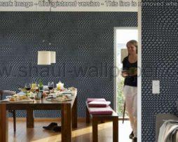 טפטים לסלון, למטבח ולחדרי שינה טפט תלת מימד תעתועים צבע שחור וכסף