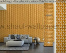 טפטים לסלון, למטבח ולחדרי שינה טפט צורות בולטות בצבע כתום