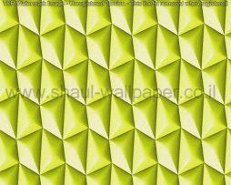 טפטים לסלון, למטבח ולחדרי שינה טפט צורות בולטות בגוון של ירוק