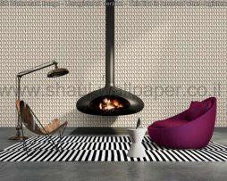 טפטים לסלון, למטבח ולחדרי שינה טפט צורות בולטות צבע בגוון שמנת