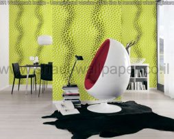 טפטים לסלון, למטבח ולחדרי שינה טפט תלת מימד זיגזג צבע ירוק