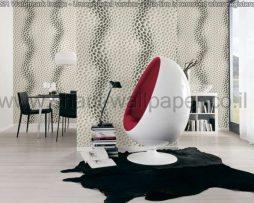 טפטים לסלון, למטבח ולחדרי שינה טפט תלת מימד זיגזג לבן ואפור