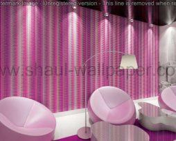 טפטים לסלון, למטבח ולחדרי שינה טפט תלת מיימד ריבועים צבע לבן וסגול