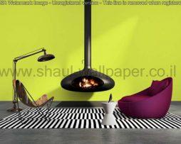 טפטים לסלון, למטבח ולחדרי שינה טפט טקסטורה מחוספס בצבע ירוק