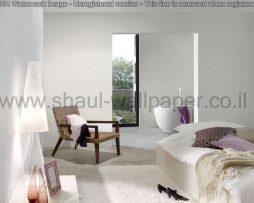 טפטים לסלון, למטבח ולחדרי שינה טפט טקסטורה מחוספס בצבע לבן בהיר