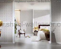 טפטים לסלון חדרי שינה ולחלל הבית טפט מדליונים מחוספס צבע אבן ולבן