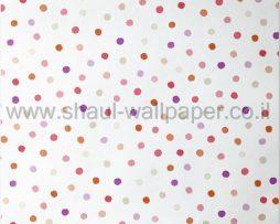 טפטים לילדים, טפטים לקיר, טפט נקודות צבעוניות רקע לבן