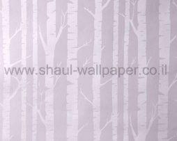 טפטים לילדים, טפטים לקיר, טפט עץ בצבע כסוף על רקע ורוד