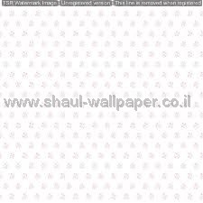 טפטים לילדים, טפטים לקיר, טפט עם פרחונים בצבע ורוד רקע לבן
