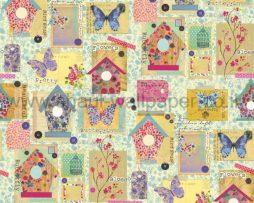 טפטים לילדים, טפטים לקיר, טפט פרפרים ופרחים וציורים צבעוניים