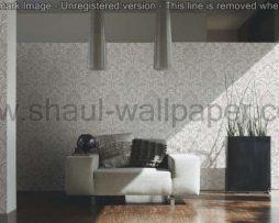 טפטים לסלון חדרי שינה ולחלל הבית טפט גובלן מדליונים לבן אפור וברונזה