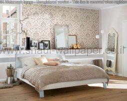 טפטים לסלון חדרי שינה ולחלל הבית טפט גובלן מדליונים לבן אפור וזהב