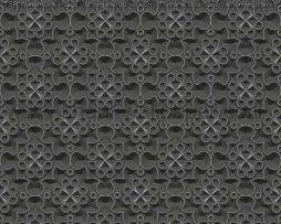 טפטים לסלון,חדרי שינה וחלל הבית טפט דמוי תבנית פרחים שחור כסף