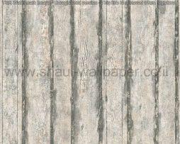 טפטים לחדר שינה, טפטים לפינות אוכל, טפט דמוי גדר מעץ צבע אפור ולבן