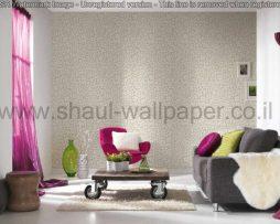 טפטים לחדר שינה, טפטים לסלון, טפט צורות פרחים בפסיפס צבע שמנת אפור