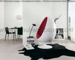 טפטים לחדר שינה, טפטים לסלון, טפט אשליות עיגולים זזים צבע טורקיז אפור